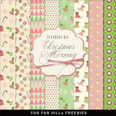 Far Far Hill - Free database of digital illustrations and papers: New Freebies Kit of Paper - Christmas Morning