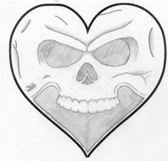 hearts heart drawing skull drawings hart fire alexisonfire poetic dead draw easy sketches skulls sketch clipart flames awesome hands making