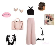"""""""Black & Pink"""" by joumanabh ❤ liked on Polyvore featuring Zimmermann, BCBGMAXAZRIA, Schutz, Corto Moltedo and FOSSIL"""