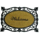 Found it at Wayfair -  Welcome Printed Doormat