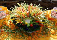 Garden vegetable crudite display with herbed blue cheese dip #HudsonValley #weddings #catering