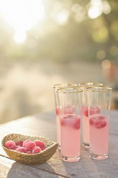 wedding drink ideas-raspberries and sparkling sunlight