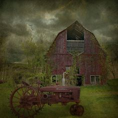 A pinner says - From my barn series.....love the tractor