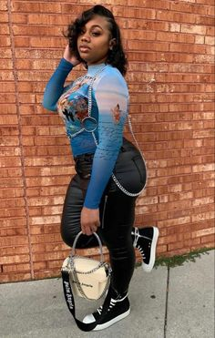 Thick Girls Outfits, Cute Casual Outfits, Pretty Outfits, Girl Outfits, Fashion Outfits, Hot Black Women, Pretty Females, Black Girl Fashion, Teenager Outfits