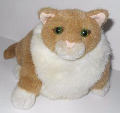 Dakin Pampered Pets Tan Fat Rudy Cat Plush Stuffed Animal Chubby Kitty | eBay