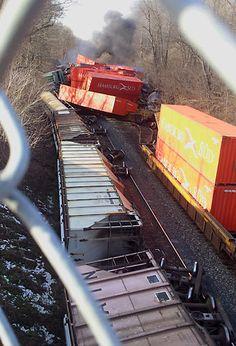 freight train crash - Google Search