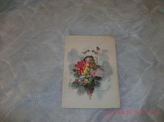Christmas Card c1960s Art work by Paul Decker some wear and