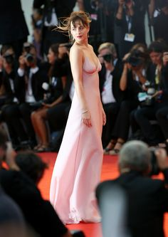Dakota Johnson In Prada at the premiere of Black Mass at 2015 Venice Film Festival   - ELLE.com (=)