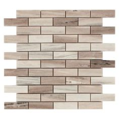 Golden Valley Brick Marble Mosaic - 12in. x 12in. | Floor and Decor