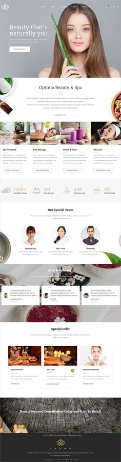 Optima is professionally design multipurpose #WordPress theme for stunning #beauty & #spa studio website with 25+ unique homepage layouts download now➩ https://themeforest.net/item/optima-multipurpose-wordpress-theme/19514753?ref=Datasata