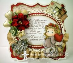 tilda hiding heart for time for magnolia challenge blog and Stamps - Scraps