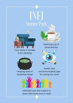 Life essentials for the personality type. Infj Mbti, Infj Infp, Infj Personality, Myers Briggs Personality Types, Advocate Personality Type, Infj Type, Myers Briggs Personalities, 16 Personalities, Way Of Life