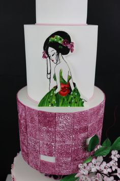 Geisha wedding cake