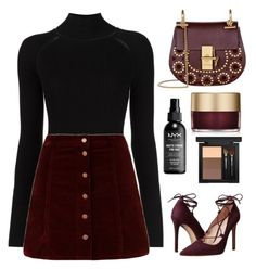 """Untitled #3531"" by tatyanaoliveiratatiana ❤ liked on Polyvore featuring Misha Nonoo, Massimo Matteo, Chloé, Stila and MAC Cosmetics"