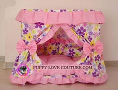 Dog Bed - One-of-a-kind Teddy Bear Puppies, Cute Dogs And Puppies, Baby Dogs, Princess Dog Bed, Princess Puppies, Puppy Beds, Pet Beds, Simple Bed, Easy Bed