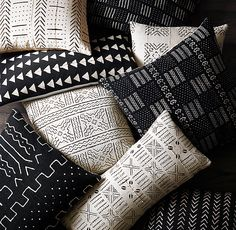 Handwoven African Mud Cloth Pillow Cover