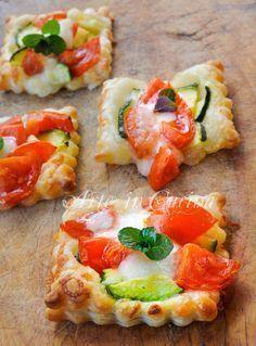 Sfogliette al parmigiano con zucchine e Asiago veloci vickyart arte in cucina