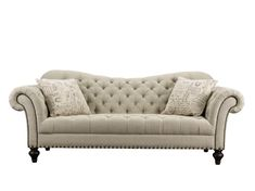 Vanna Traditional Tufted Fabric Sofa by Rachlin Classics