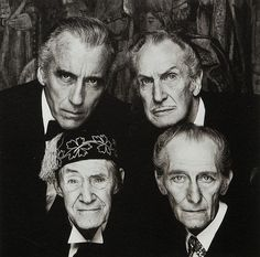 Christopher Lee, Vincent Price, John Carradine y Peter Cushing, por Terry O'Neill, 1983