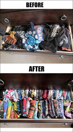 1000 images about bedroom drawer organizer on pinterest for T shirt drawer organization