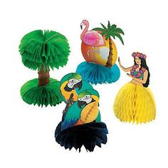 12 Mini Tropical Decorations #34/1711