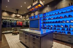 Rustic Contemporary Ranch by Red Rock Contractors that is a closet!!!