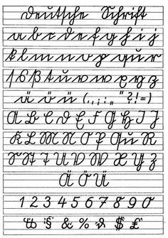 Sütterlin Schrift