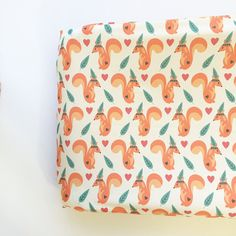 Changing Pad Cover in Tribal Squirrel - http://www.baby-changingtable.com/changing-pad-cover-in-tribal-squirrel/