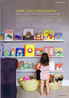 Little & Brave brought this kid's library gallery to our attention. What can we say, it sure rocked our world too! So gorgeous