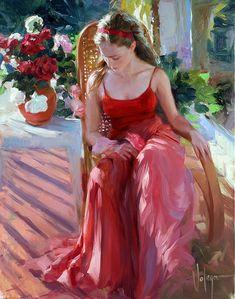 Vladimir Volegov - Woman in red dress