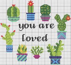 Cactus Cross Stitch, Tiny Cross Stitch, Cross Stitch Kitchen, Cross Stitch Heart, Counted Cross Stitch Patterns, Cross Stitch Designs, Cross Stitch Embroidery, Cross Stitch Flowers Pattern, Donia