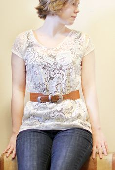Amazingly easy tutorial to turn a lace curtain into a shirt, I'll be making a prego version of this! Check out her blog, it's so lovely!
