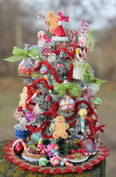 Candy Christmas tree - clear ornaments filled with candy