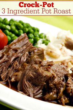 "Crock-Pot 3 Ingredient Pot Roast Recipe Crock-Pot 3 Ingredient Pot Roast Recipe,Best Of Crock-Pot Ladies Recipes Crock-Pot 3 Ingredient Pot Roast – The family will love this easy ""dump and go"" recipe for Crock-Pot. Beef Pot Roast, Pot Roast Recipes, Crockpot Recipes, Dinner Recipes, Easy Recipes, Dinner Ideas, Crock Pot Slow Cooker, Crock Pot Cooking, Bon Appetit"