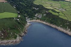 Lamorna Cove in Cornwall - UK aerial image by John Fielding #lamorna #cove #cornwall #aerial #coast