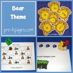 Bear Theme in Preschool