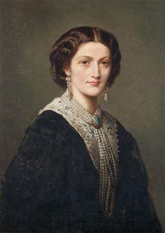 Hrabina Maria Klementyna z Sanguszków Potocka na portrecie F.X.Winterhaltera z 1857