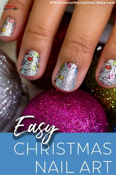 Christmas is the best time of the year to enjoy the festivities. There are countless ways to showcase your personal style and creativity for Christmas. Your clothes are not only ready for the holidays, but your nails can be a nice highlight for the season. Get lit with Holiday De-light, a glittery design of multicolored lights! Get quick holiday nails in minutes with Color Streets Christmas nail inspiration fit for any style or occasion. #colorstreetnails #christmasnaildesign Christmas Nail Designs, Christmas Nail Art, Holiday Nails, Short Gel Nails, Long Acrylic Nails, Beauty Tips, Beauty Hacks, Nail Polish Strips, Color Street Nails