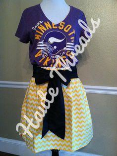 Minnesota Vikings NFL Football Gameday dress by hautethreadsboutique, $70.00 - www.hautethreadsboutique.com