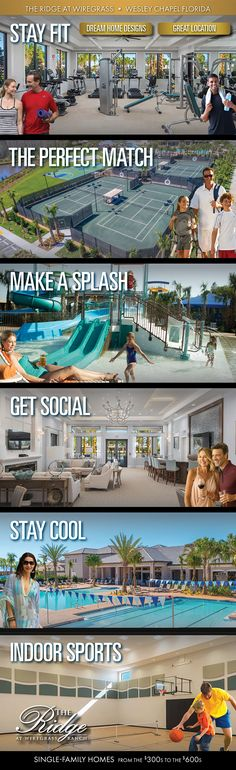 Endless Activities Happening Now at The Ridge at Wiregrass Ranch by Wesley Chapel Florida, Dream Home Design, House Design, Florida Homes For Sale, Florida Living, New Home Builders, Stay Cool, Match Making, Perfect Match