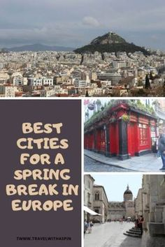 best cities for a spring break in Europe recommendations Spring Break, Spring Time, Travel Guides, Travel Tips, Travel Around The World, Around The Worlds, Countries To Visit, Adventure Activities, European Destination