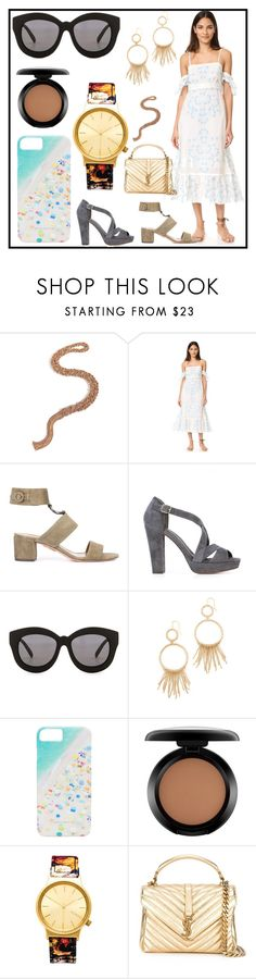 """Feel the set"" by denisee-denisee ❤ liked on Polyvore featuring Carolina Bucci, Athena Procopiou, Aquazzura, Tila March, Seafolly, Aurélie Bidermann, Gray Malin, MAC Cosmetics, Komono and Yves Saint Laurent"