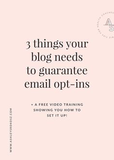 Are you blogging for your holistic health business and not growing your email list? Click here to learn the 3 things you must have on your blog to guarantee e-mail opt-ins PLUS a free video training showing you how to set it all up! This is perfect for holistic nutritionists, health coaches, or yoga teachers. Mailing List, Email Marketing Strategy, Content Marketing, Business Marketing, Marketing Logo, Marketing Tactics, Affiliate Marketing, Tips & Tricks, Blog Topics