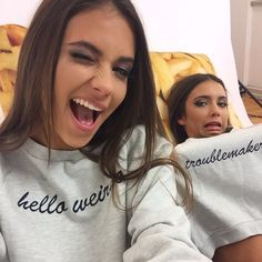 Sisters or besties, lovee the sweatshirts Go Best Friend, Best Friend Pictures, Best Friend Goals, Best Friends Forever, Bff Goals, Squad Goals, Mein Seelenverwandter, Youre My Person, Love Is In The Air