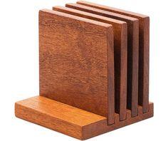 Reclaimed Mahogany Coasters - Kaufmann Mercantile