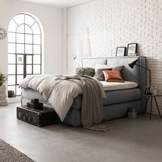 Boxspringbett Kinx - Webstoff | home24