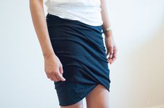 Le Fanciulle DIY twisted jersey skirt Alexander Wang Witchery