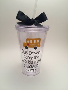School Bus Driver Gift Bus Driver Tumbler by PrettyLittleVinyls Easy Gifts, Creative Gifts, Homemade Gifts, Cute Gifts, Funny Gifts, Unique Gifts, Bus Driver Appreciation, Teacher Appreciation Week, Teacher Gifts