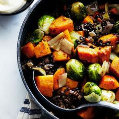 Kosher Recipe: Roasted Fall Vegetables with Lentils and Fall Spices Gourmet Kosher Cooking Lentil Recipes, Vegetable Recipes, Wine Recipes, Fall Recipes, Kosher Recipes, Cooking Recipes, Healthy Recipes, Healthy Foods, Vegan Foods