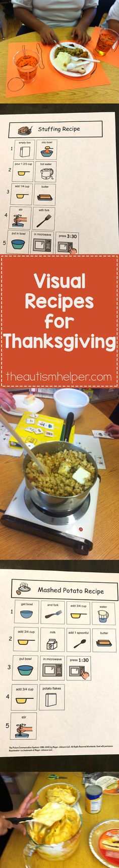 One of my classroom's favorite Thanksgiving traditions is cooking a big Thanksgiving feast! Over the years, we've streamlined the process to make it a little bit less chaotic but that dang pile of dishes after is just unavoidable! From theautismhelper.com #theautismhelper